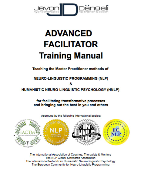 NLP Advanced Facilitator Training Manual – Training Manual Cover Page